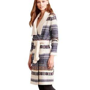 Anthropologie By Eloise Fireside Wrap Robe Sweater